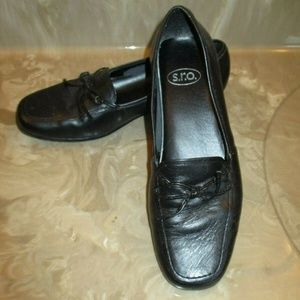SRO Shoes - SRO Leather Flat Loafers  Black   6.5M